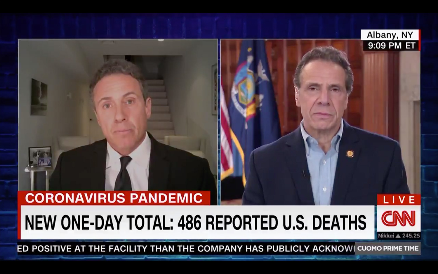 Andrew Cuomo and Brother Chris Cuomo Hilariously Bicker on CNN Again