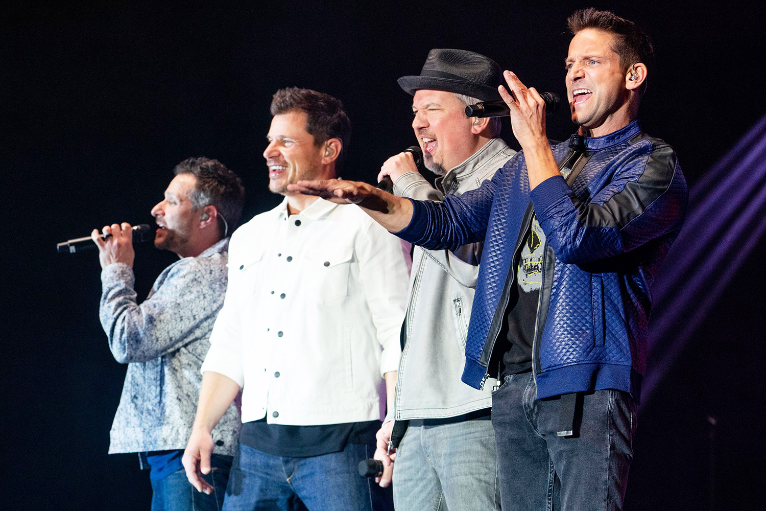 Jeff Timmons, Justin Jeffre, Nick Lachey and Drew Lachey 98 Degrees in concert at The Coconut Creek Casino, Coconut Creek, Florida, USA - 28 Feb 2020