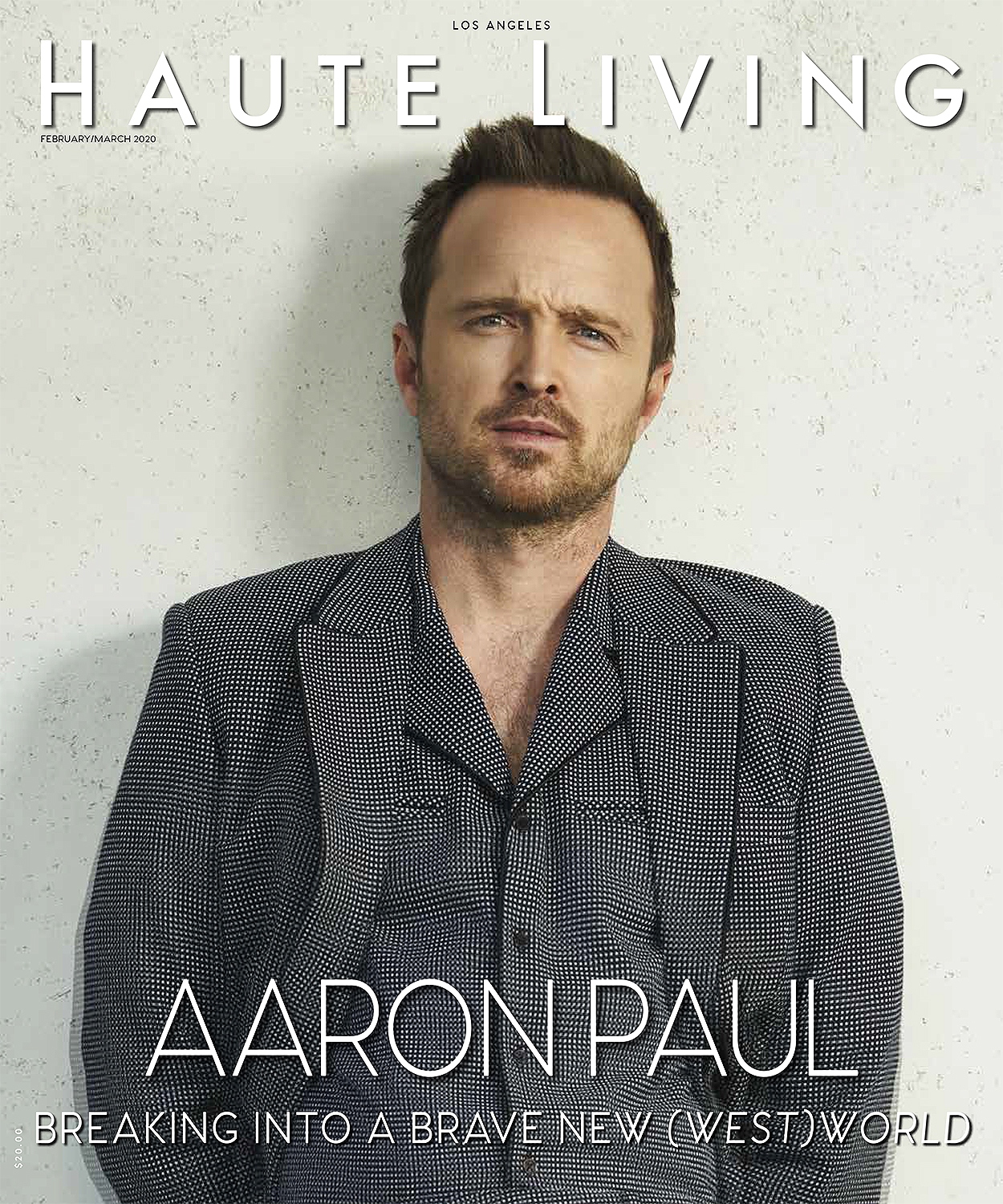 Aaron Paul Haute Living cover