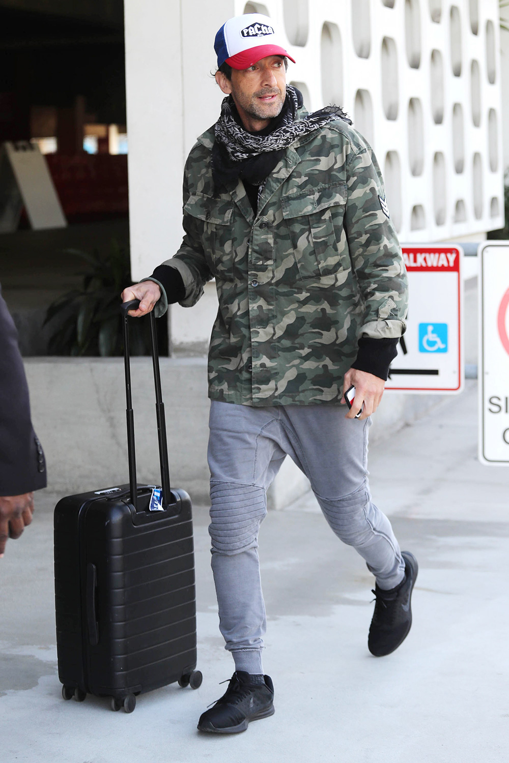 Adrian Brody is seen on March 4, 2020 in Los Angeles, California