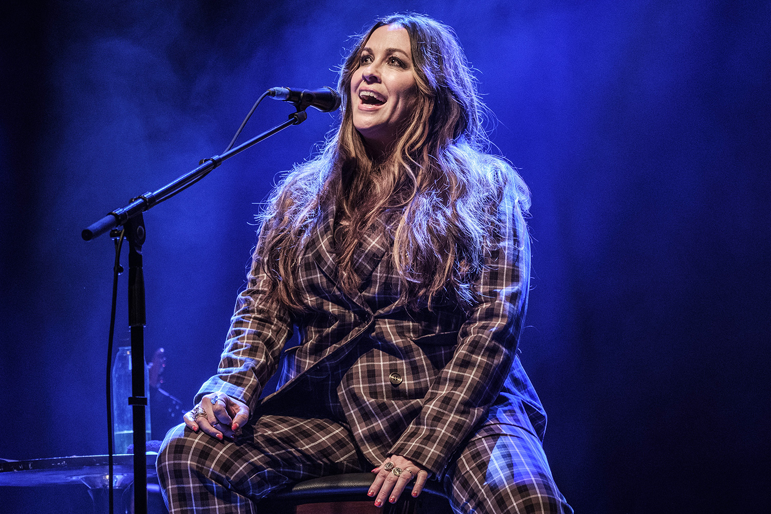 Alanis Morissette performs at O2 Shepherd's Bush Empire on March 04, 2020 in London, England