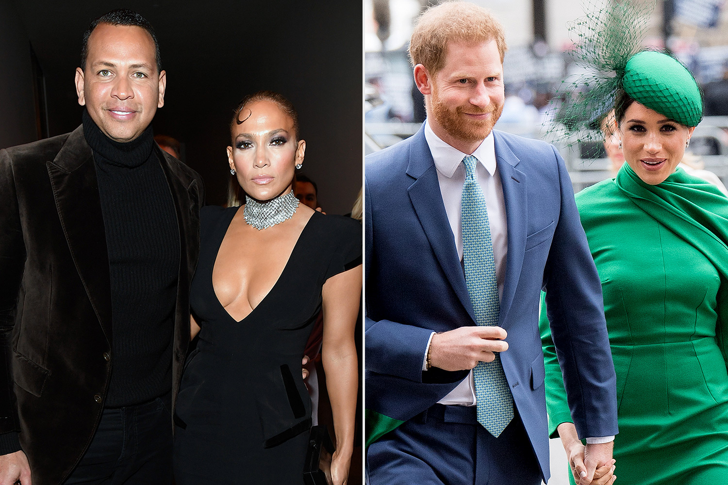 Alex Rodriguez and Jennifer Lopez; Prince Harry, Duhcess of Sussex and Meghan, Duchess of Sussex