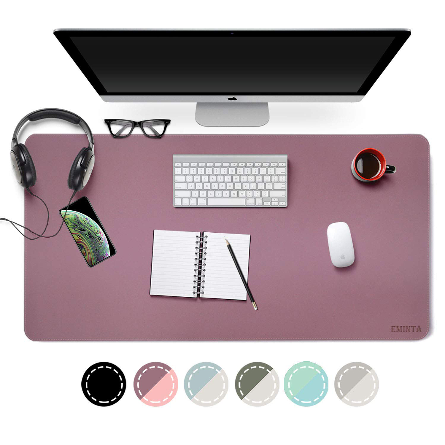 Dual Sided Leather Desk and Mouse Pad