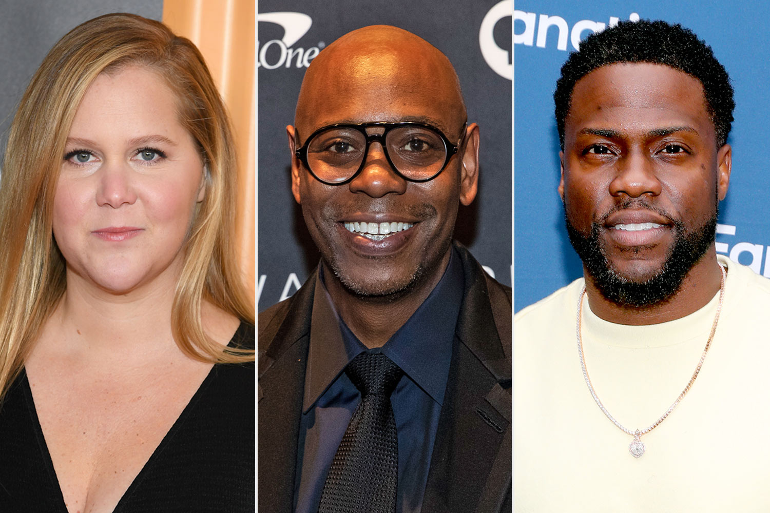 Amy Schumer and Dave Chappelle and Kevin Hart