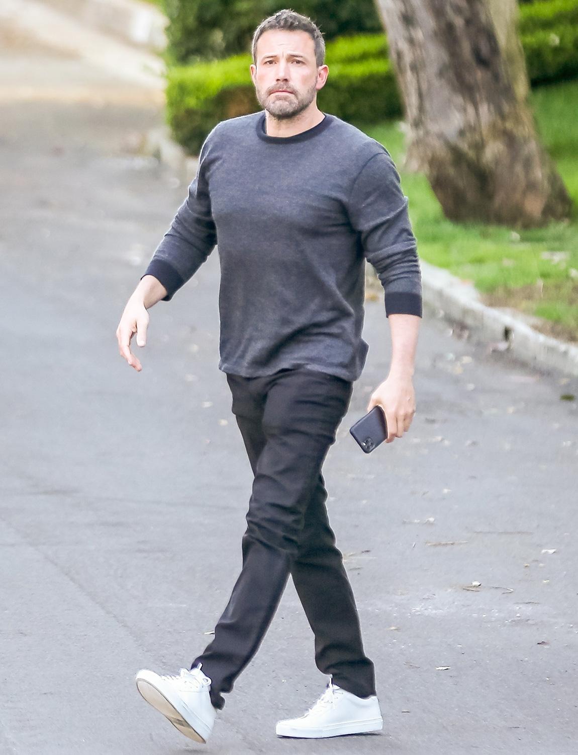 Ben Affleck arrives for fatherly duties after spending time with his new girlfriend Ana de Armas