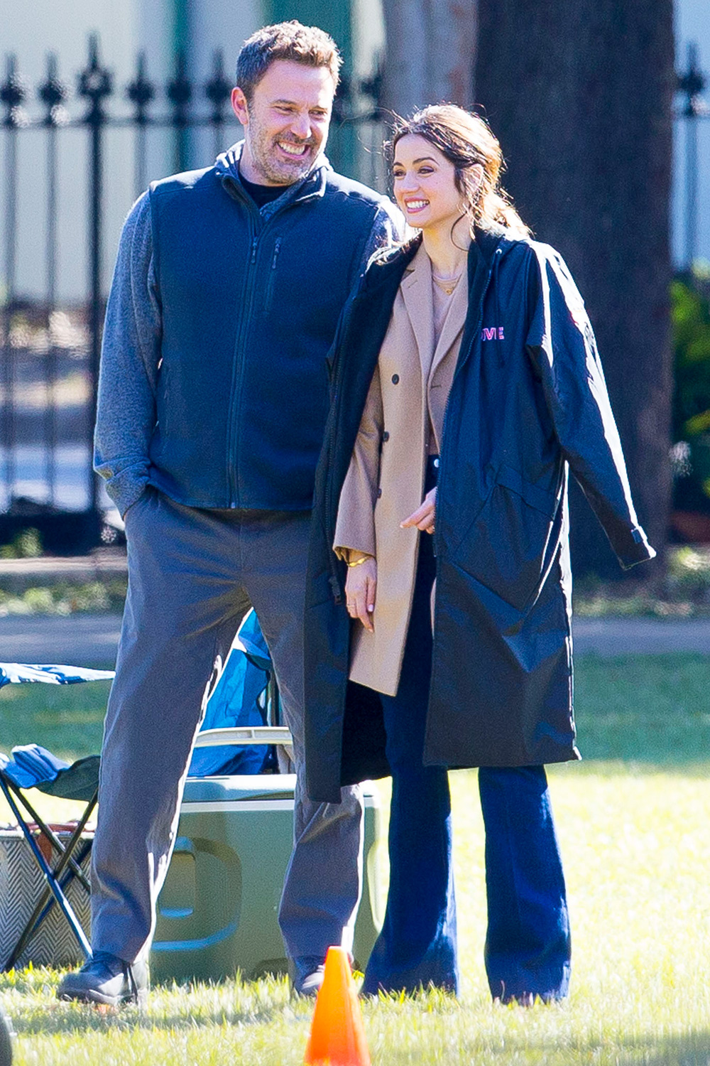 Ben Affleck on set of Deep Water with Ana de Armas