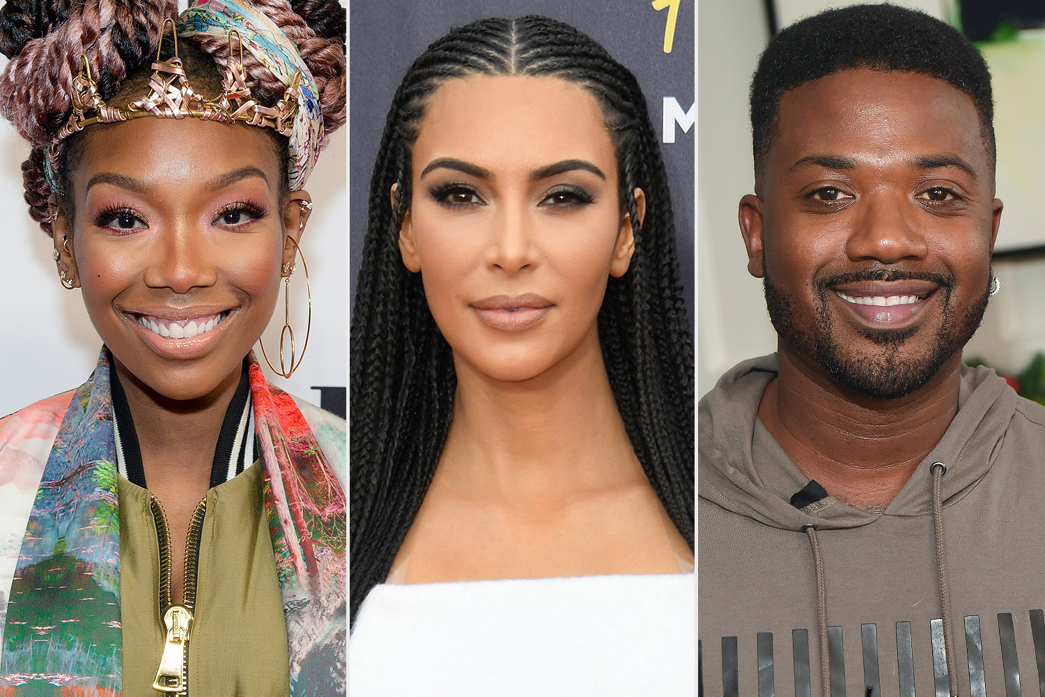 Brandy, Kim Kardashian West, Ray J