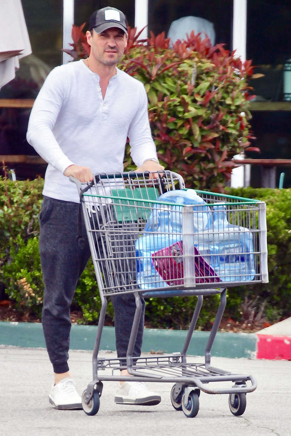 Brian Austin Green is spotted loading up on water amid the Coronavirus outbreak
