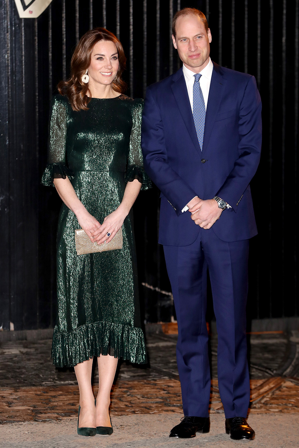 Catherine, Duchess of Cambridge and Prince William, Duke of Cambridge attend a reception hosted by the British Ambassador to Ireland Robin Barnett at the Guinness Storehouses Gravity Bar during day one of their visit to Ireland on March 03, 2020 in Dublin, Ireland