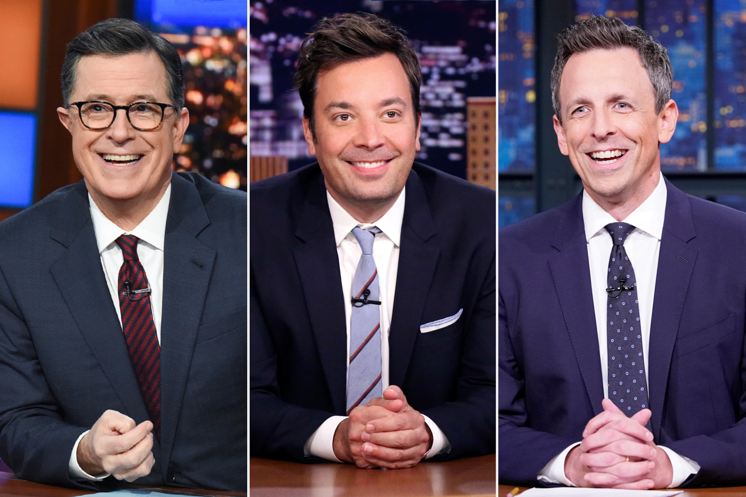 Stephen Colbert; Jimmy Fallon; Seth Meyers