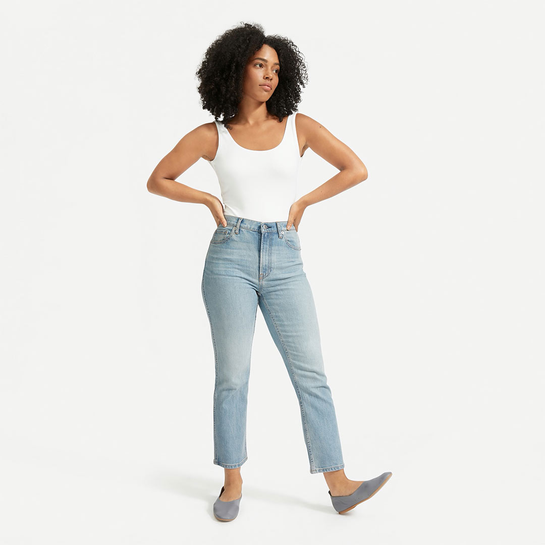 Everlane The Cheeky Bootcut Jean in Sunbleached Blue