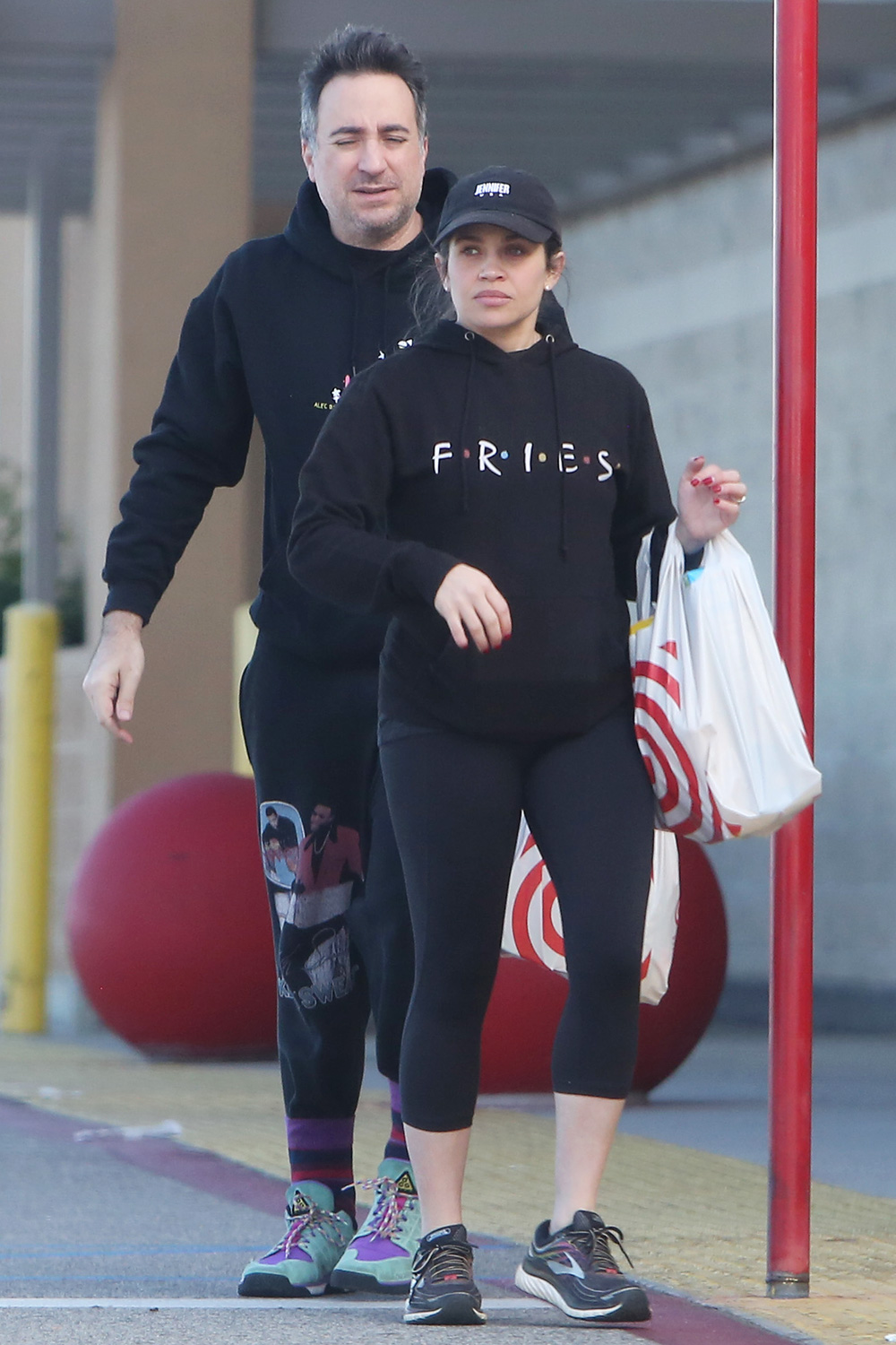 Danielle Fishel and her husband Jensen Karp head to Target to stock up on cereal