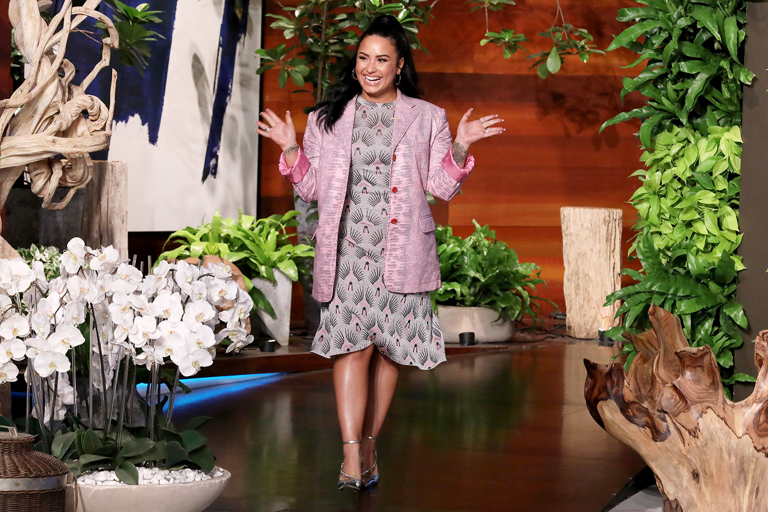 "Pop superstar Demi Lovato makes an exclusive appearance on ""The Ellen DeGeneres Show"""