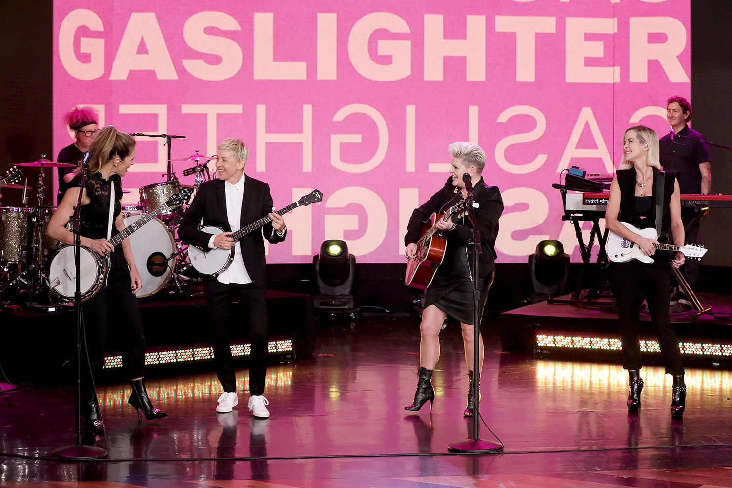 """Groundbreaking country-pop trio Dixie Chicks make an exclusive appearance on """"The Ellen DeGeneres Show"""" airing Monday, March 16th."""