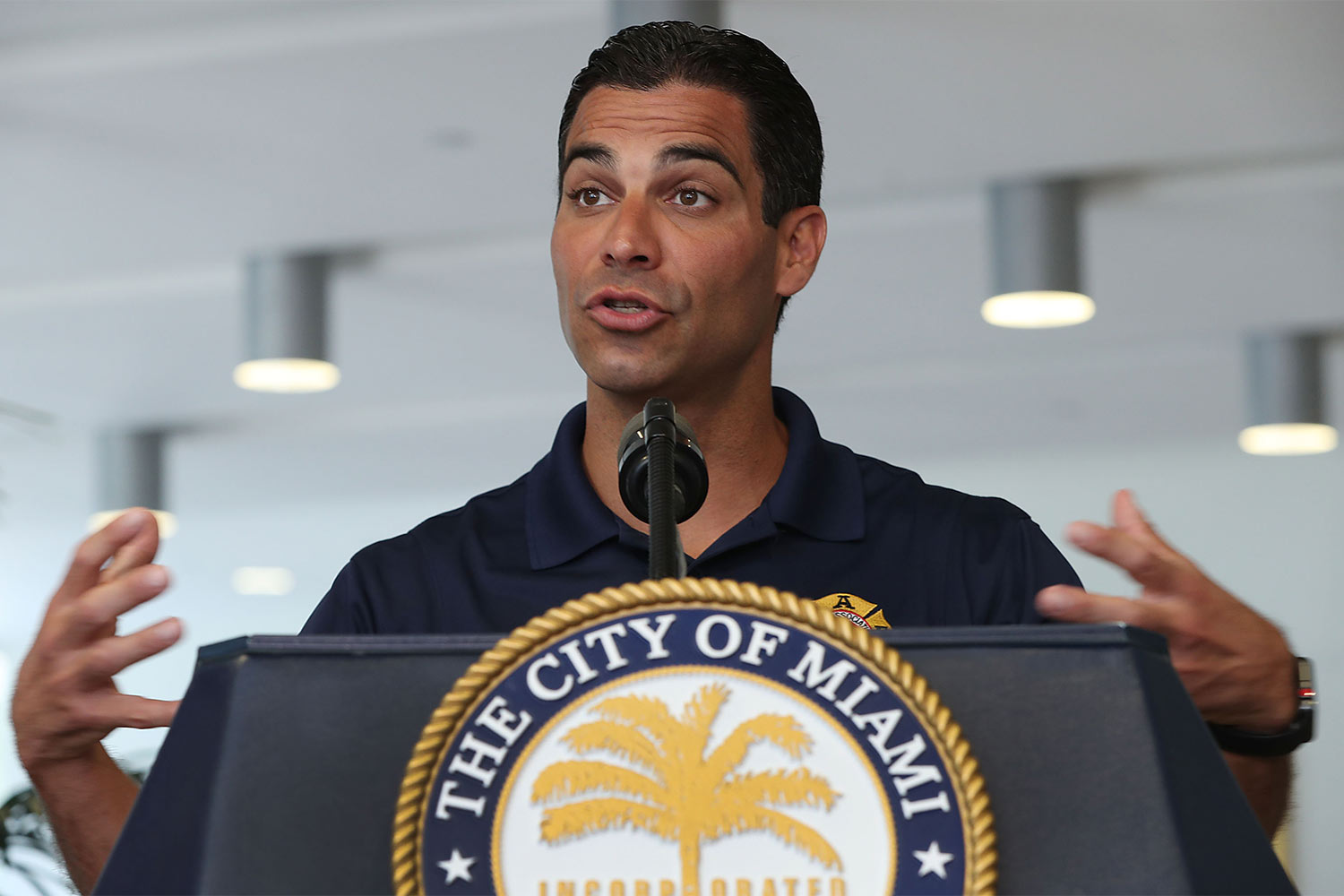 Miami Mayor And City Manager Hold Hurricane Season Kickoff Press Conference