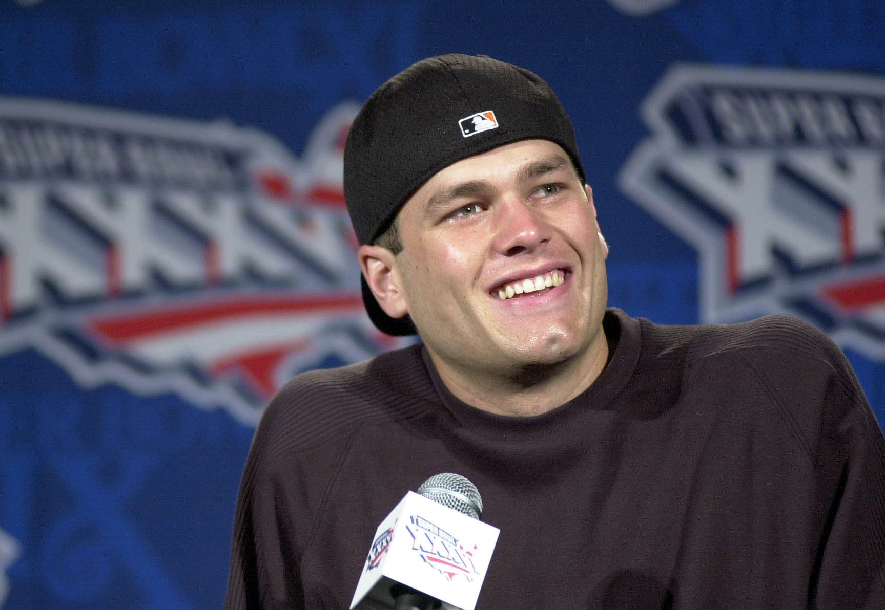 Tom Brady was all smiles at a press conference on Thursday after being named starting quarterback fo