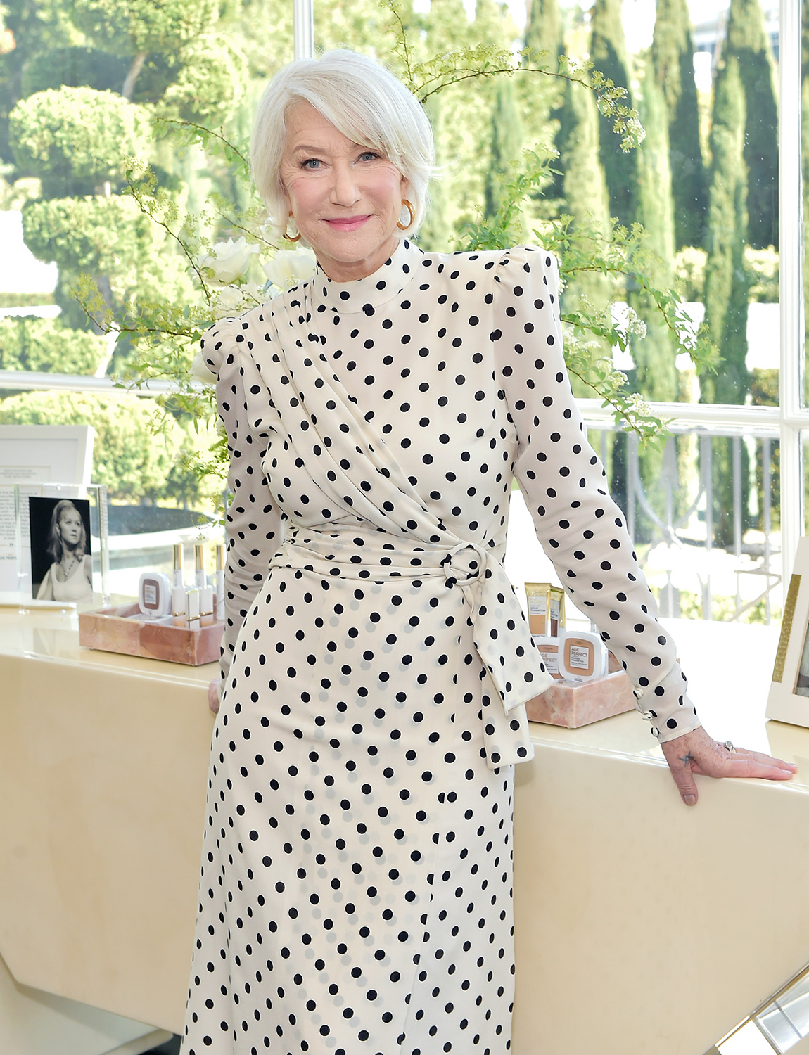 Helen Mirren joins LOréal Paris to celebrate the launch of Age Perfect Cosmetics on March 03, 2020 in Beverly Hills, California