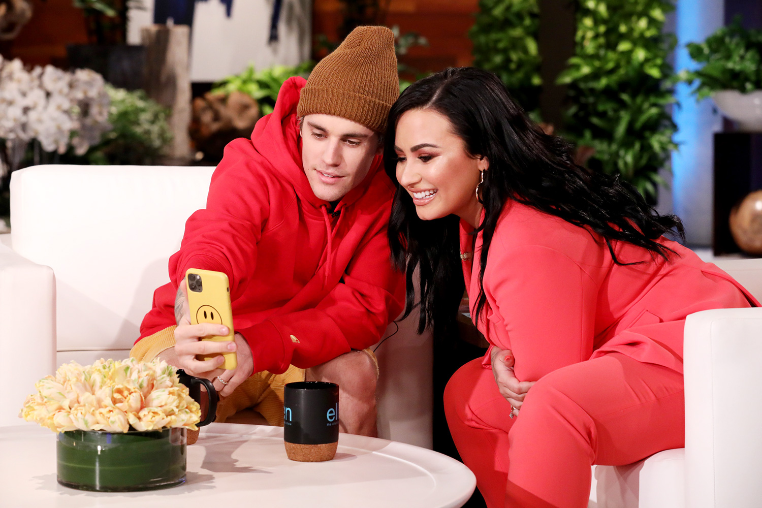 Grammy Award winner Justin Bieber sits down with Demi Lovato, and they chat about how they first met