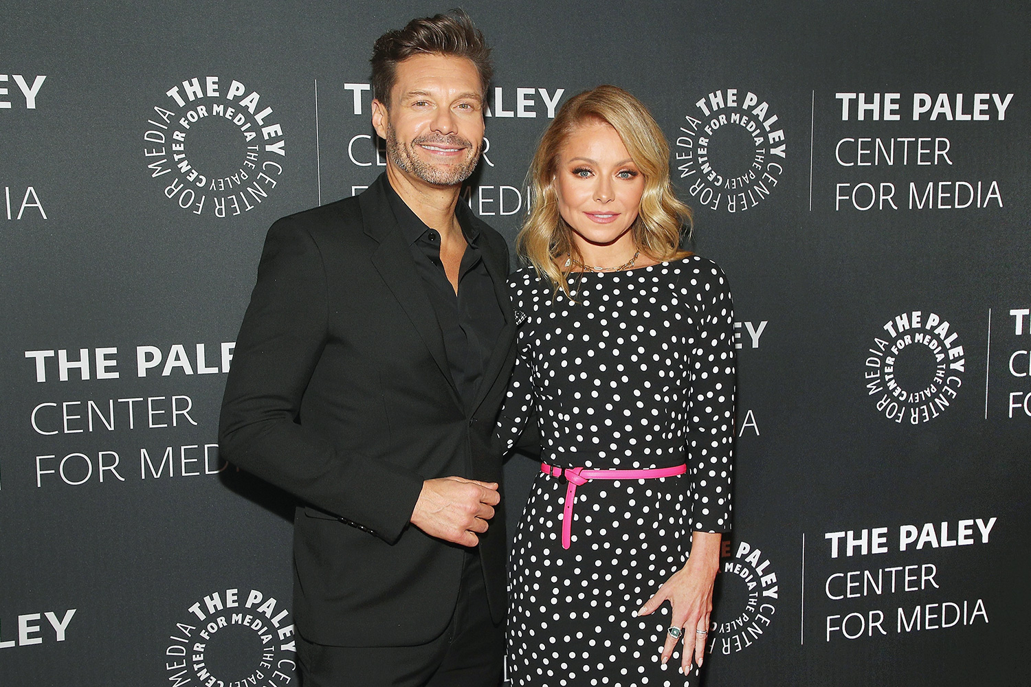 """Ryan Seacrest and Kelly Ripa attend The Paley Center For Media Presents: An Evening with """"Live with Kelly and Ryan"""" at Paley Center For Media on March 04, 2020 in New York City"""