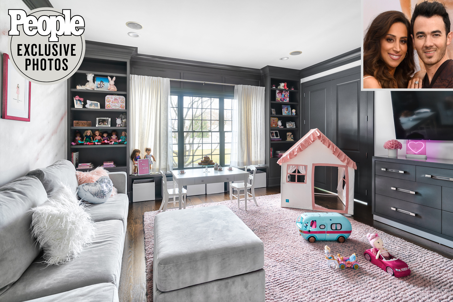 Kevin and Danielle Jonas daughters' Playroom