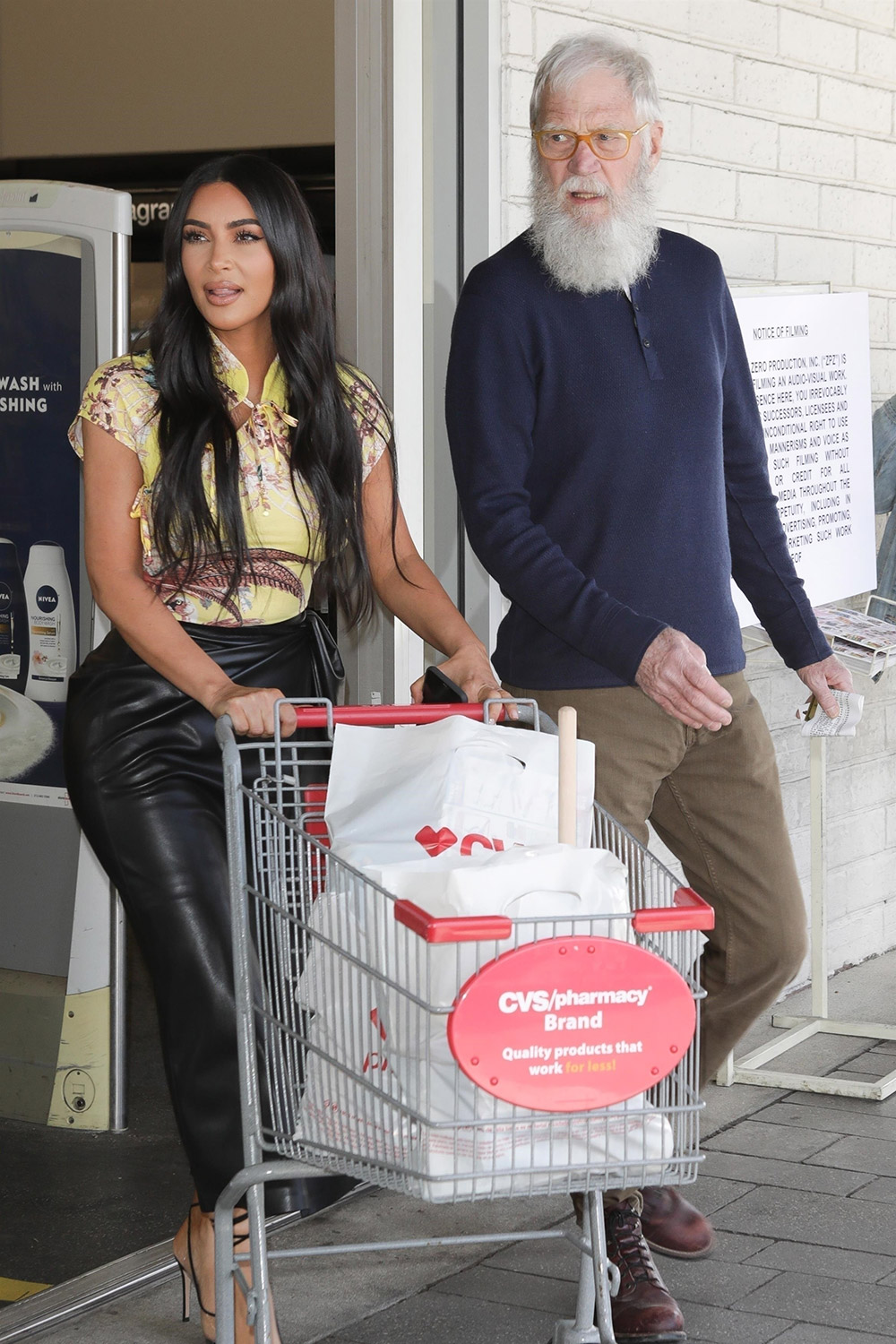 Kim Kardashian and David Letterman