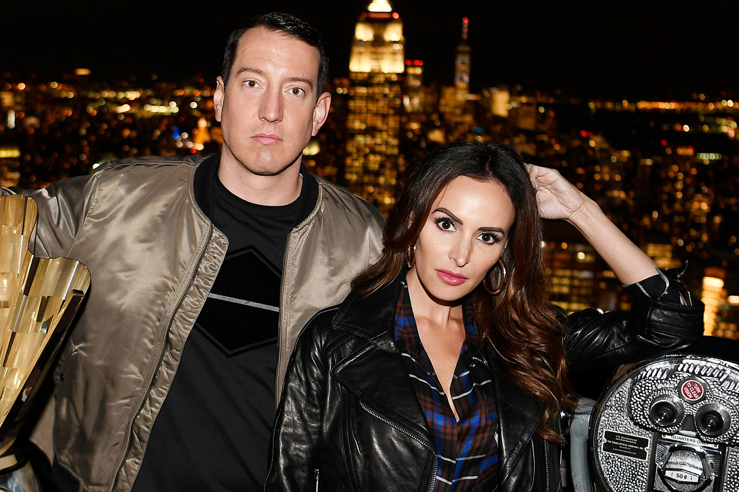 Kyle Busch Visits Top Of The Rock During The 2019 NASCAR Champion's Media Tour