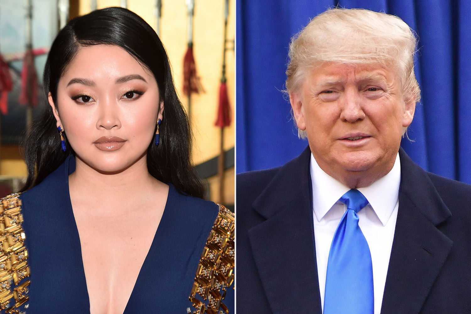 Lana Condor and Trump