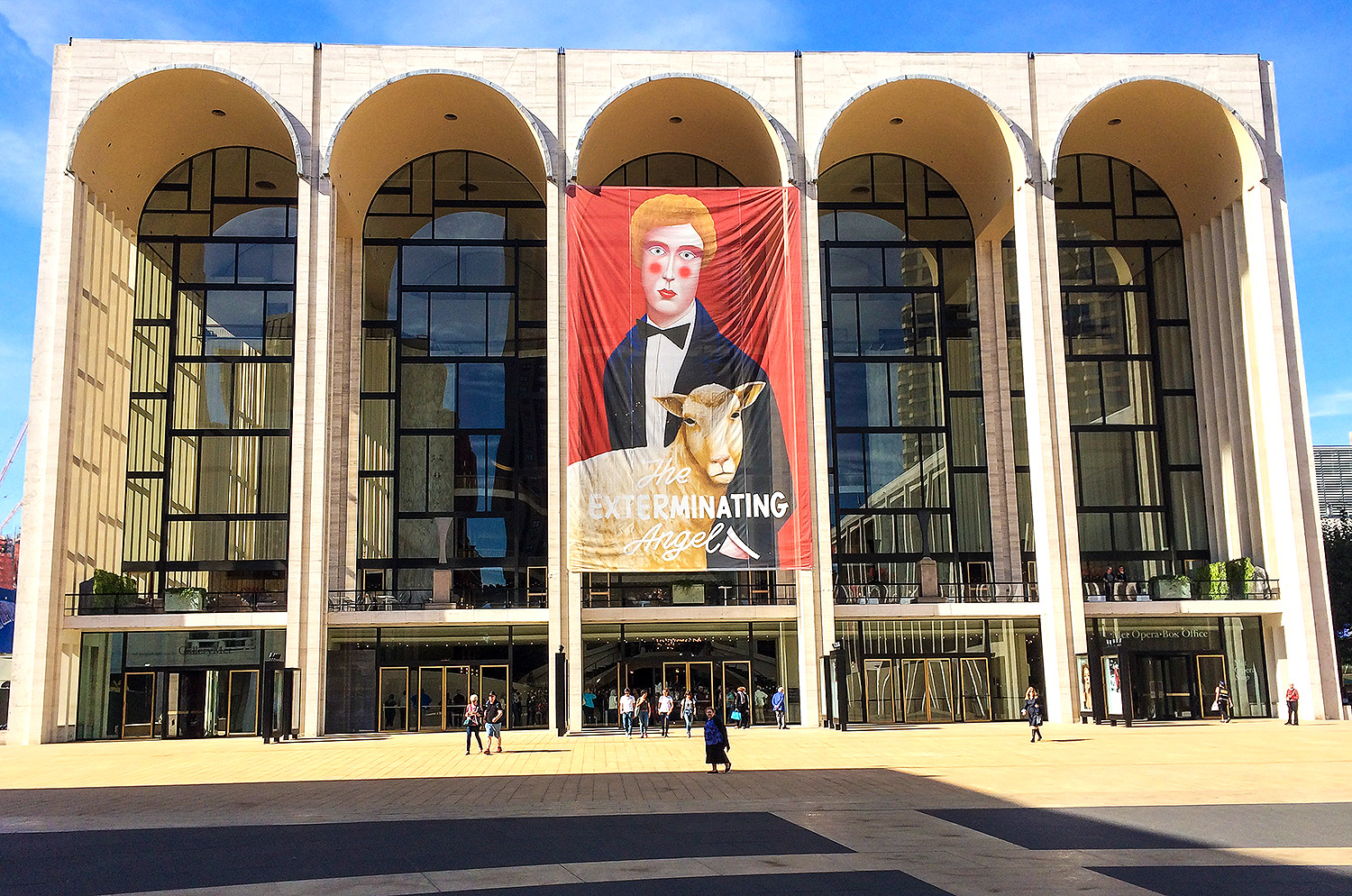 Metropolitan Opera House from Lincoln Center Plaza