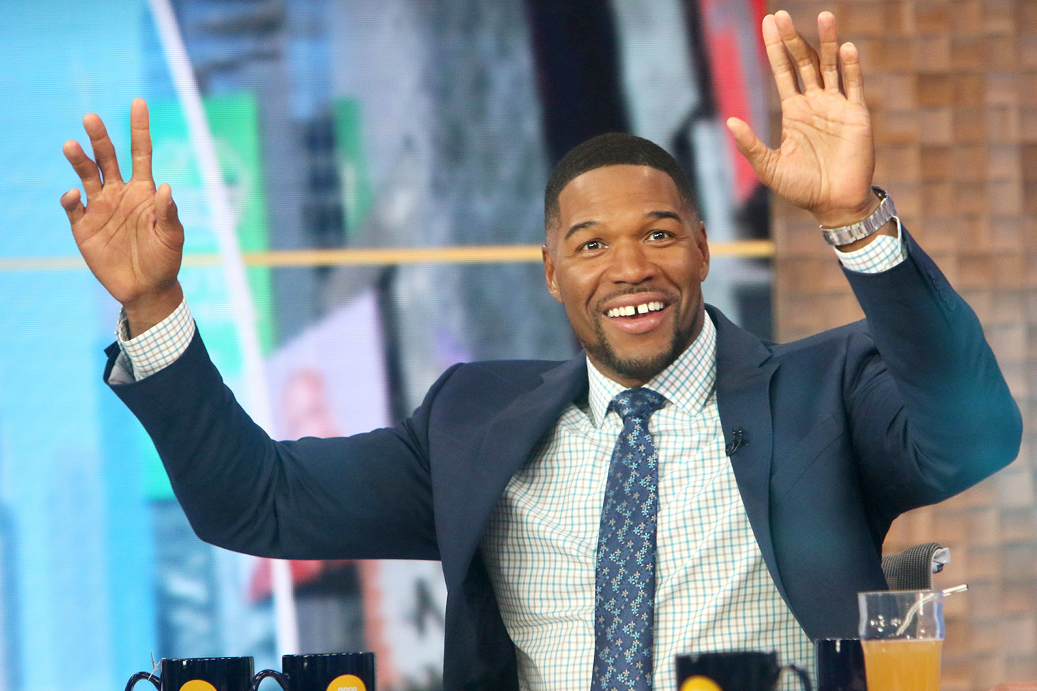 Michael Strahan of Good Morning America Getting Ready for the Show