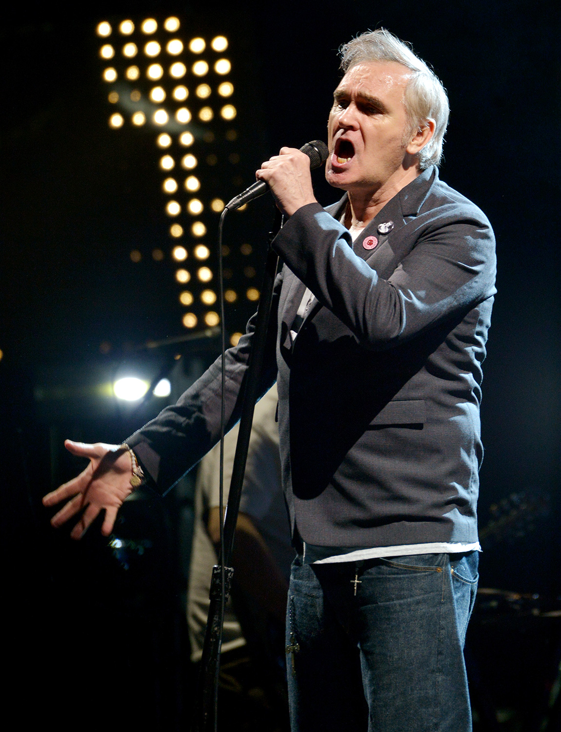 Morrissey performs live on stage at Wembley Arena on March 14, 2020 in London, England
