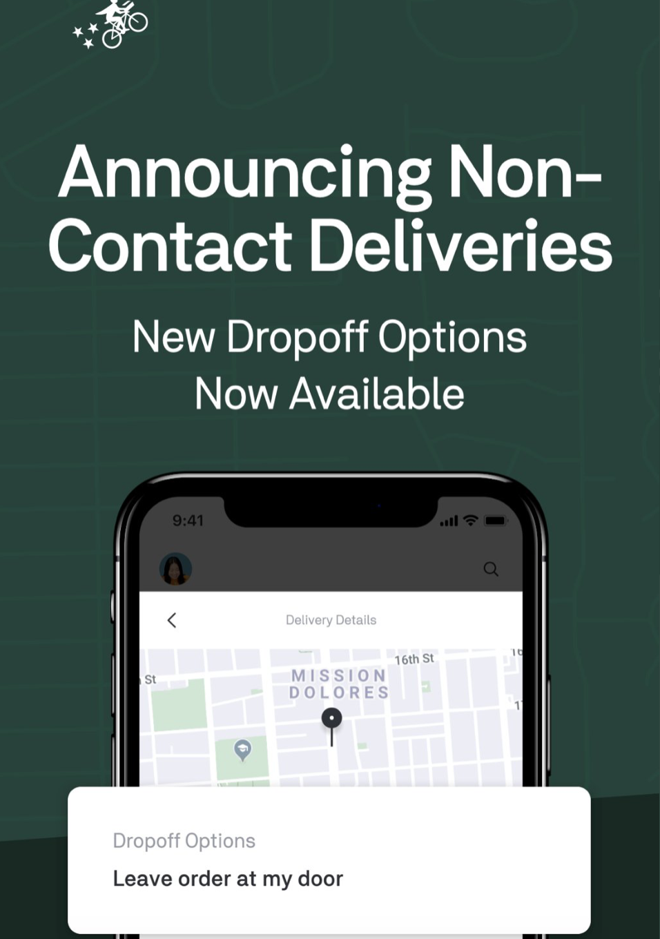 postmates contactless delivery