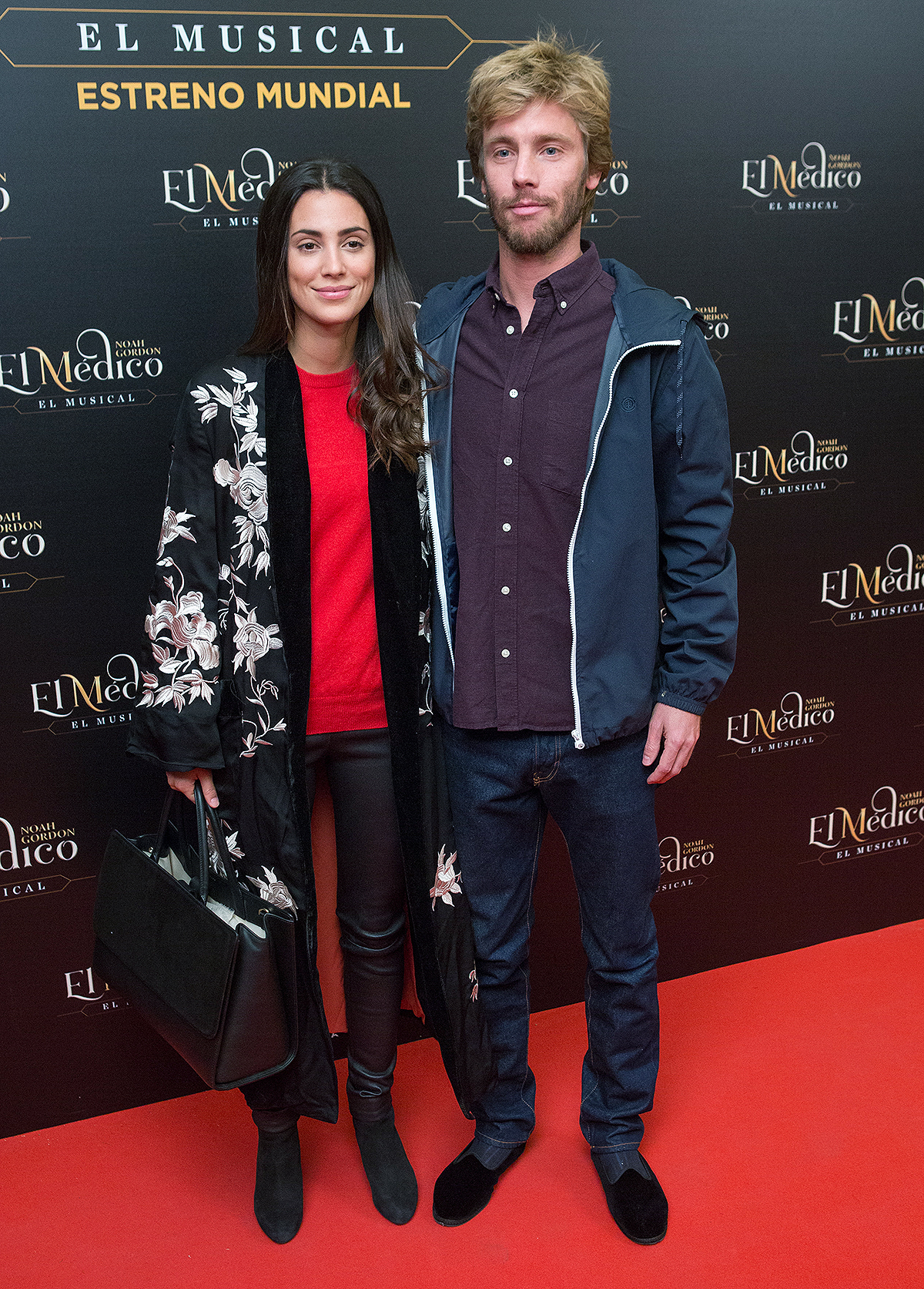MADRID, SPAIN - OCTOBER 17: Prince Christian of Hannover (R) and wife Alessandra de Osma (L) attend 'El Medico' musical premiere at the Nuevo Apolo Teather on October 17, 2018 in Madrid, Spain.