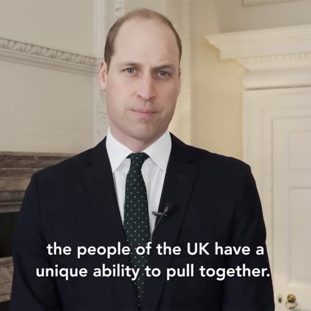 Prince William Shares Personal Video Message Addressing the Country Amid Coronavirus Outbreak