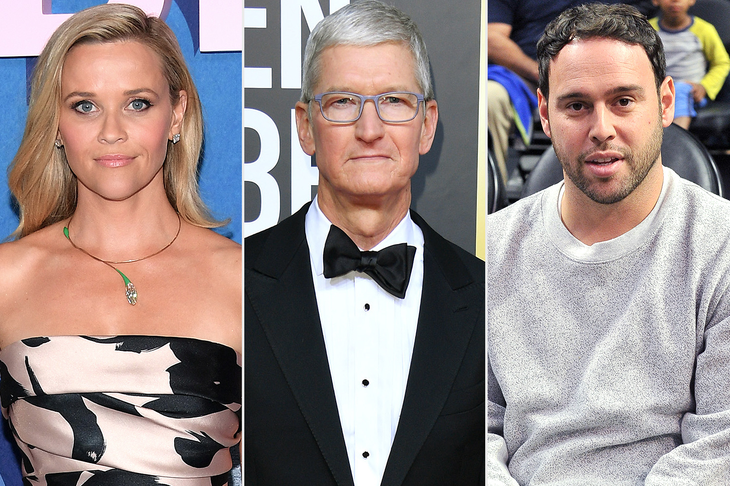 Reese Witherspoon; Tim Cook; Scooter Braun