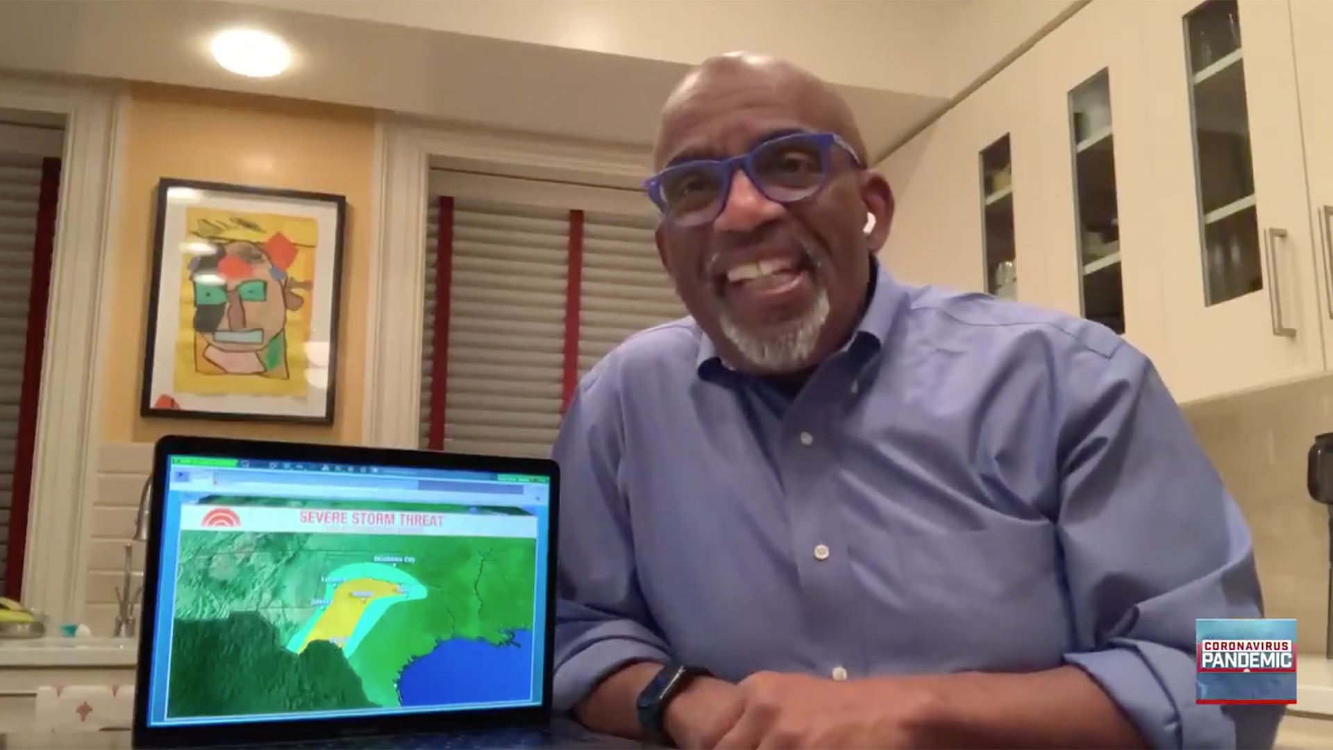 Al Roker does the weather from home