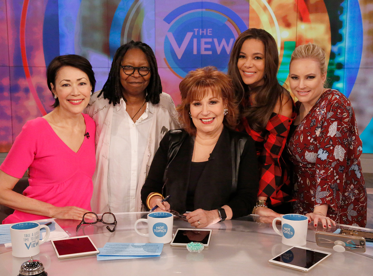 ANN CURRY, WHOOPI GOLDBERG, JOY BEHAR, SUNNY HOSTIN, MEGHAN MCCAIN
