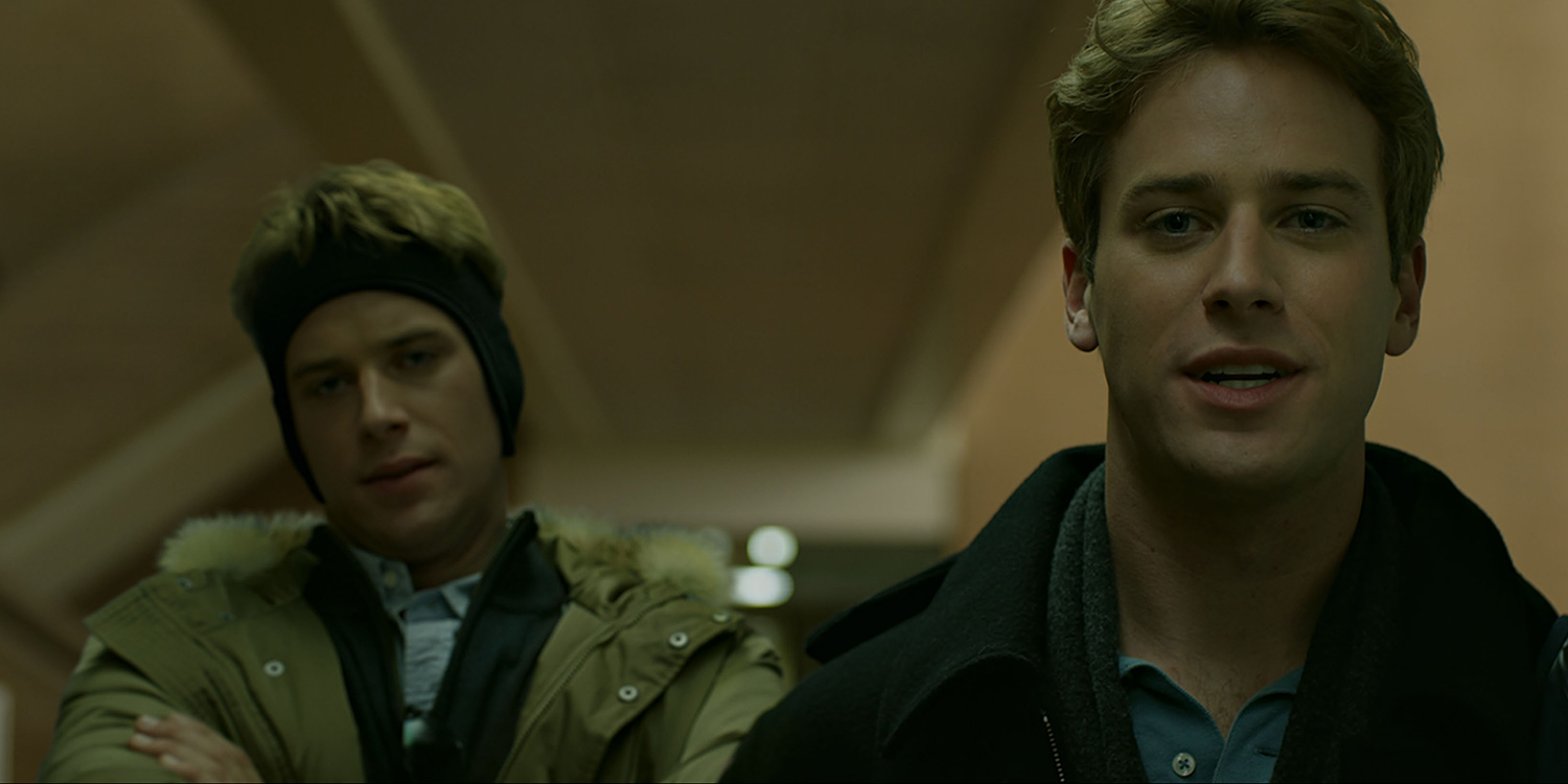 """Armie Hammer as the Winklevoss Twinsin Columbia Pictures' """"The Social Network"""