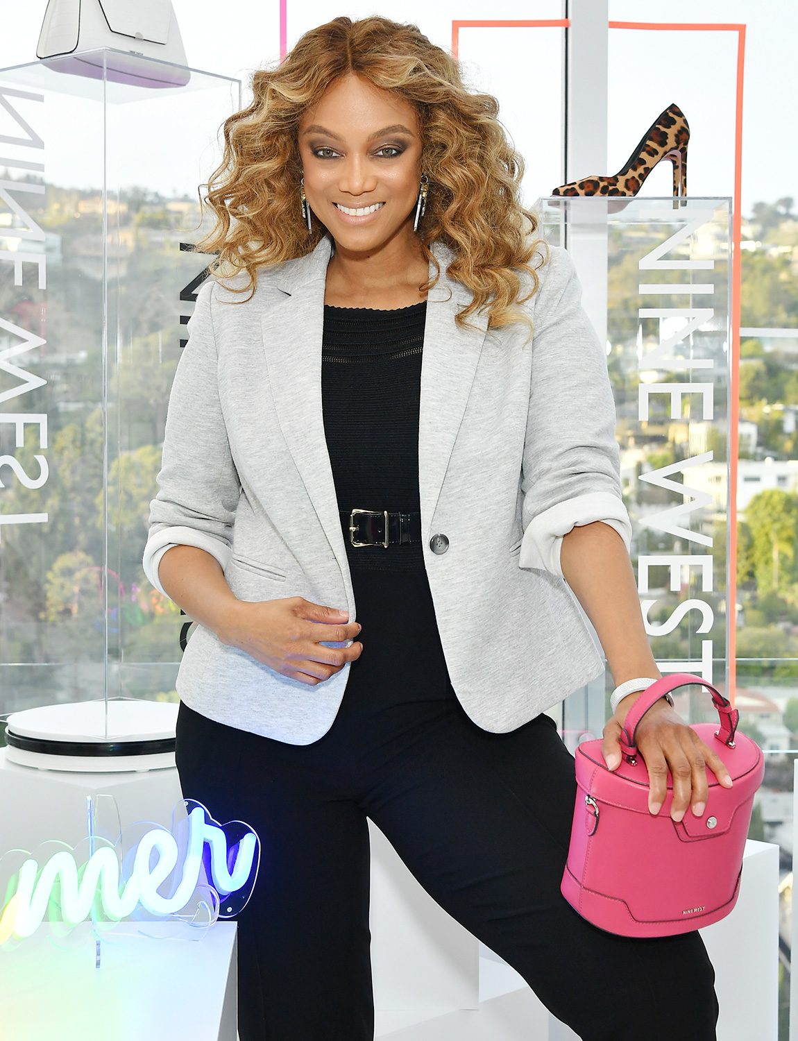 Tyra Banks hosts Nine West New campaign launch event in celebration of International Women's Day at ABG West Style Studio on March 05, 2020 in West Hollywood, California