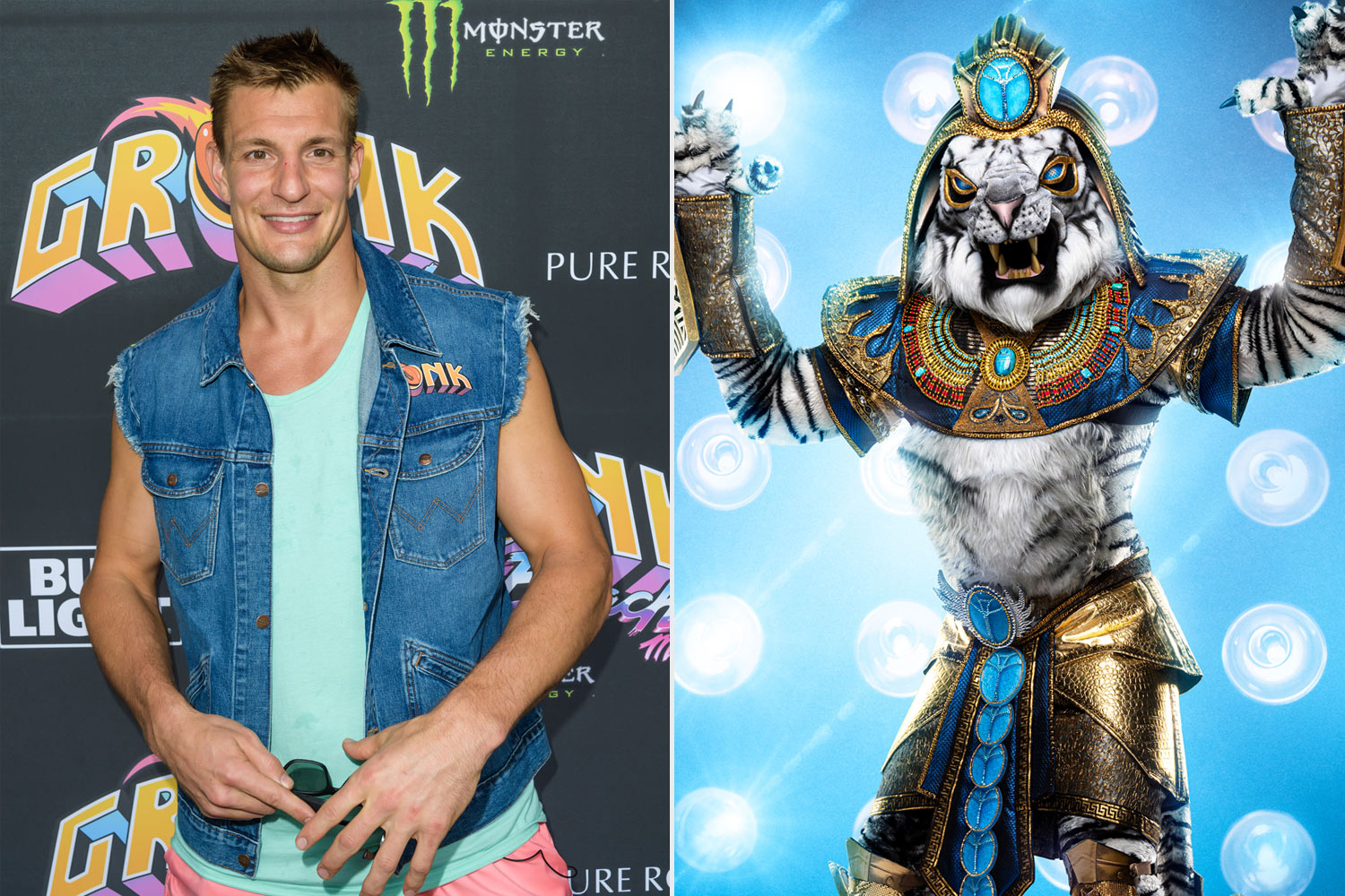 Rob Gronkowski and White Tiger