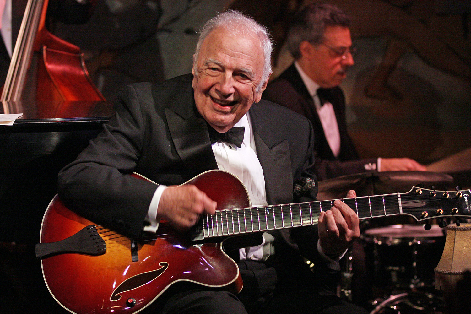 John Pizzarelli Quartet with a special guest Bucky Pizzarelli at Cafe Carlyle on Wednesday night, April 10, 2013