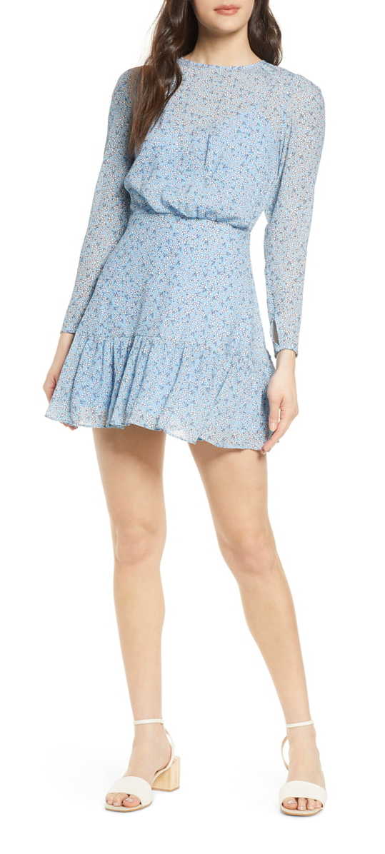 Finders Keepers Blossom Long Sleeve Minidress