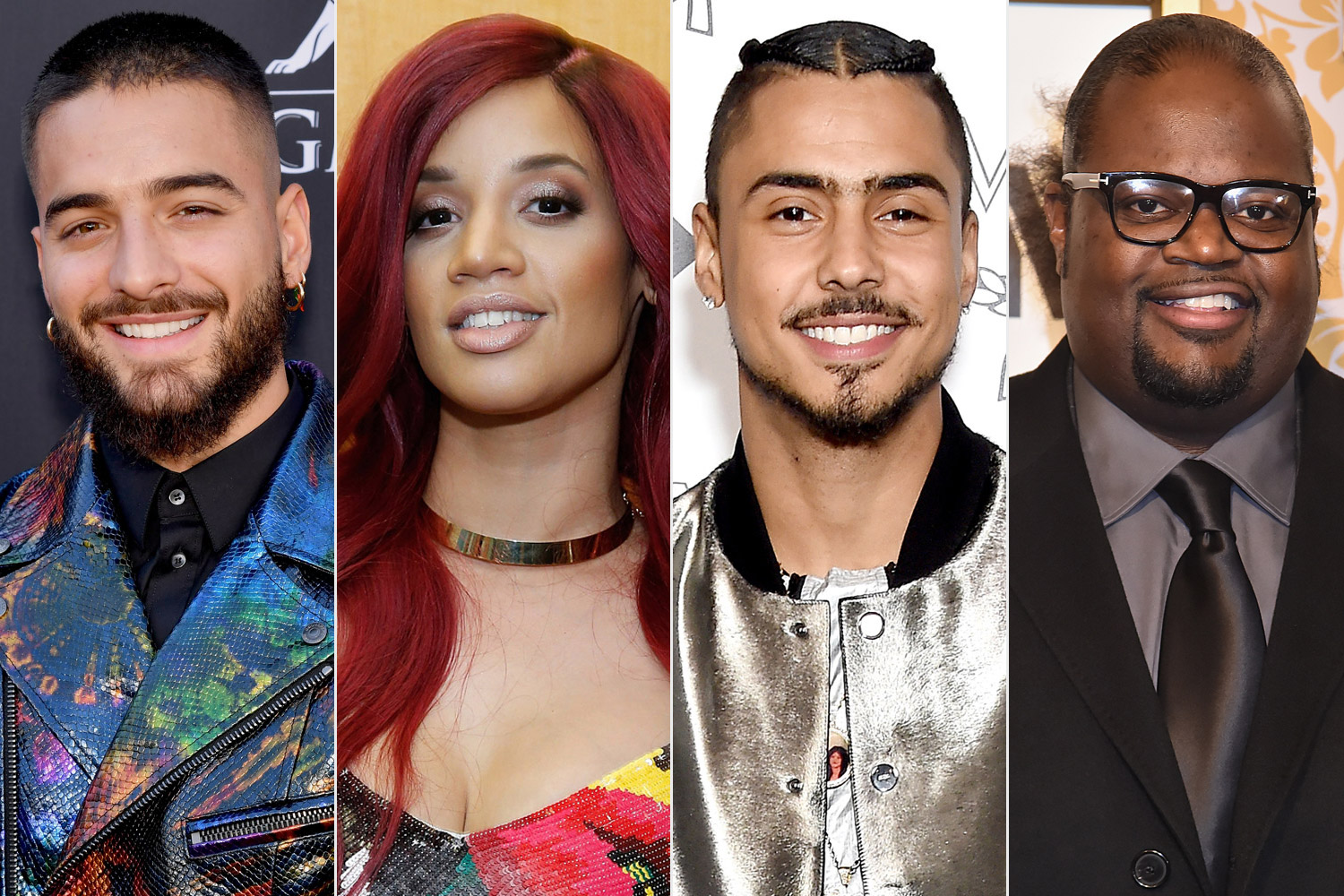 Maluma, Quincy, Poo Bear and Dascha Polanco