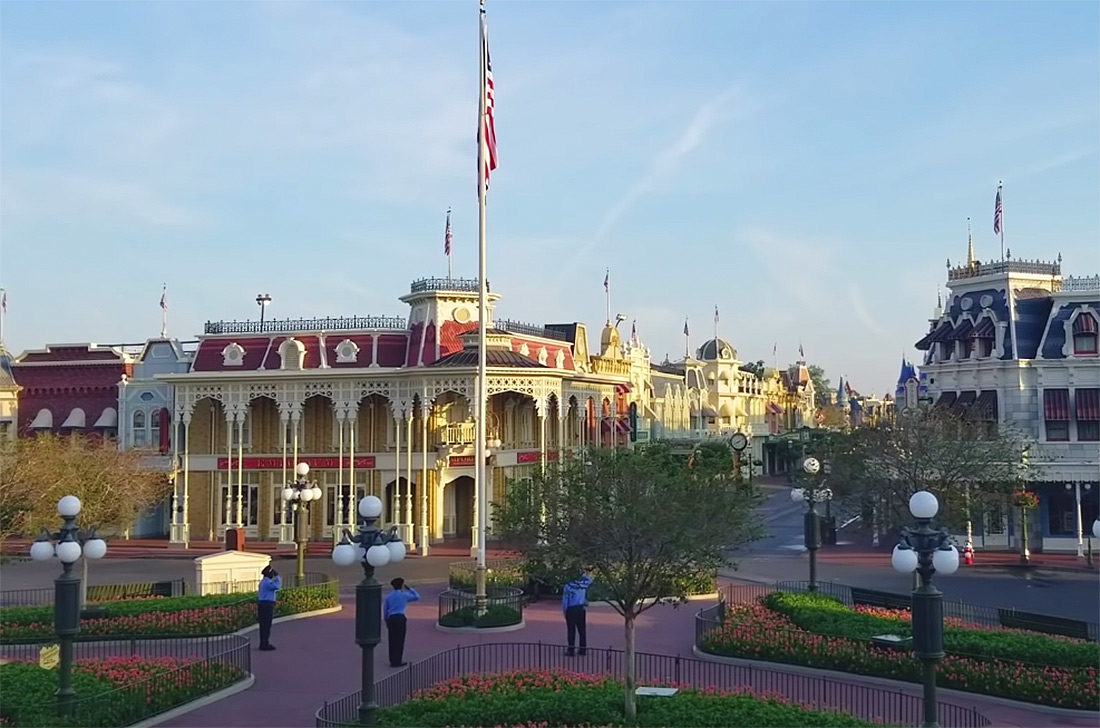 Disney Employees Are Still Raising the Parks' Flags Every Day Despite Closures