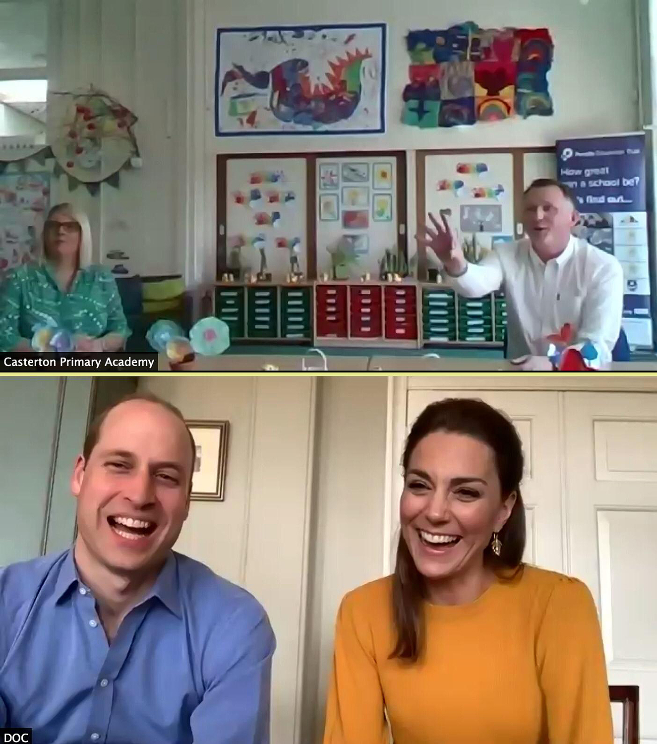 William and Kate Call Teachers