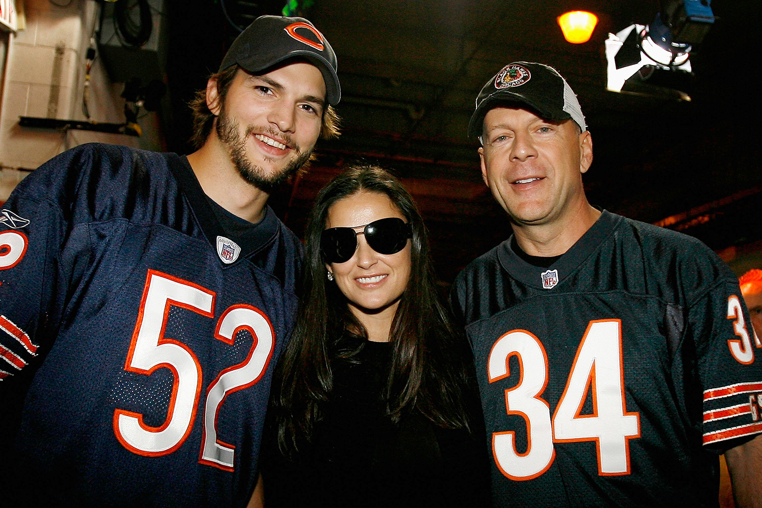 Ashton Kutcher, actress Demi Moore and actor Bruce Willis