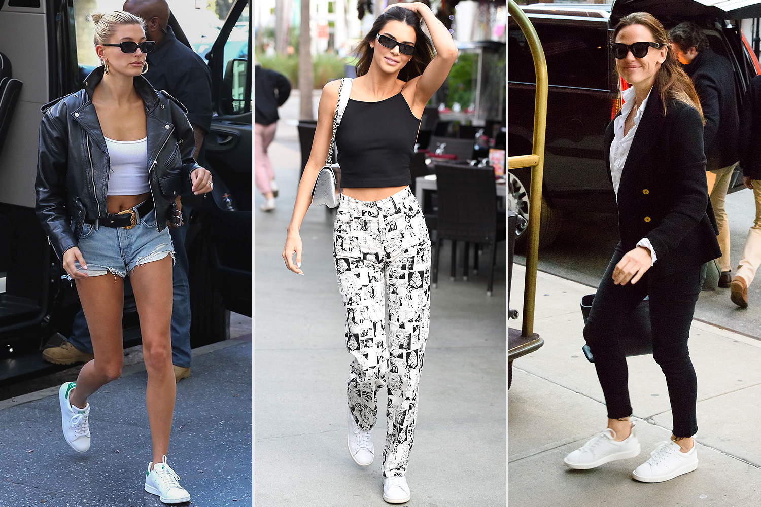 hailey baldwin; kendall jenner; jennifer garner adidas Stan Smith Sneakers nordstrom sale