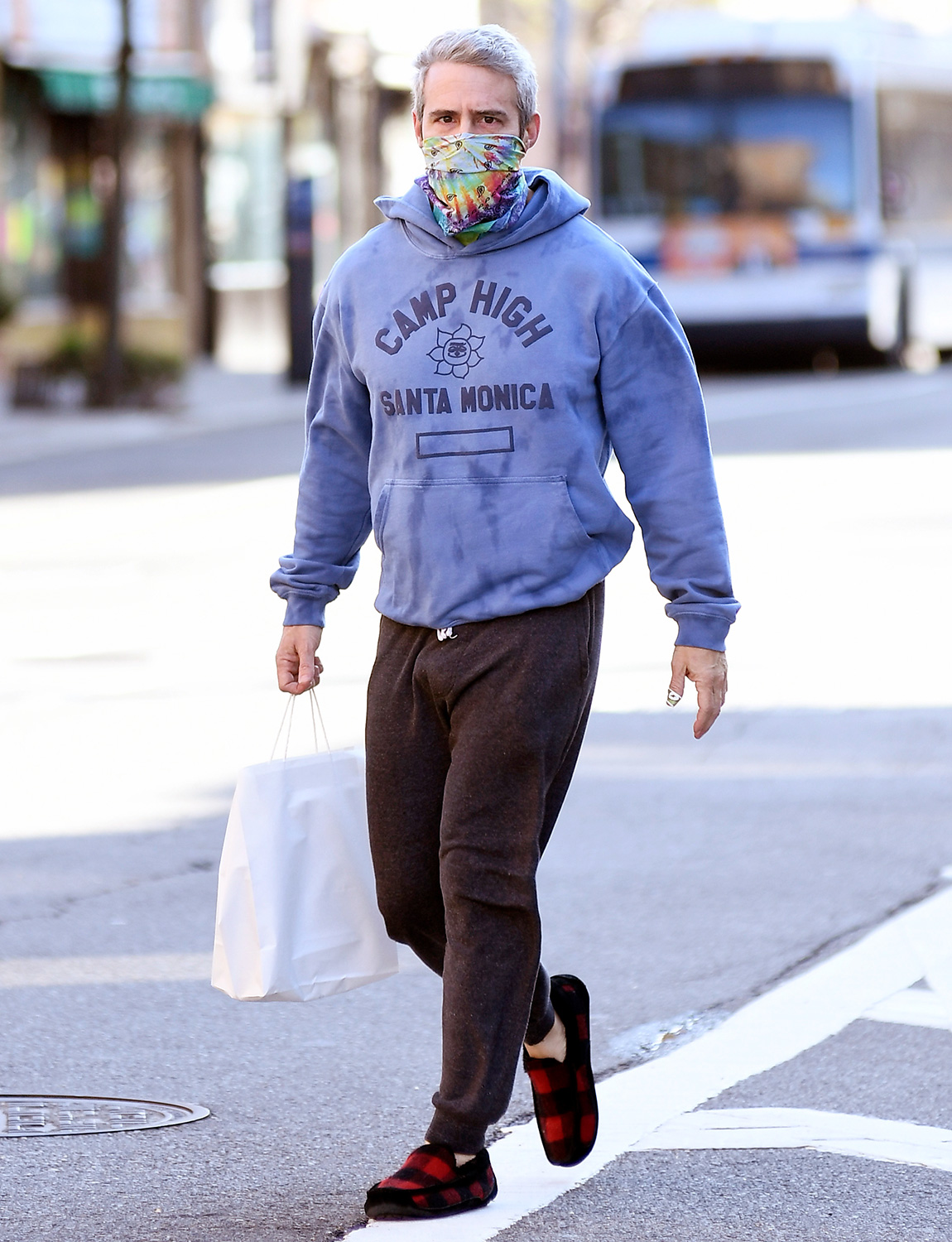 Andy Cohen Leaving Manley's Wine & Spirits After Buying Some Wine Just Days After Recovering From The Coronavirus