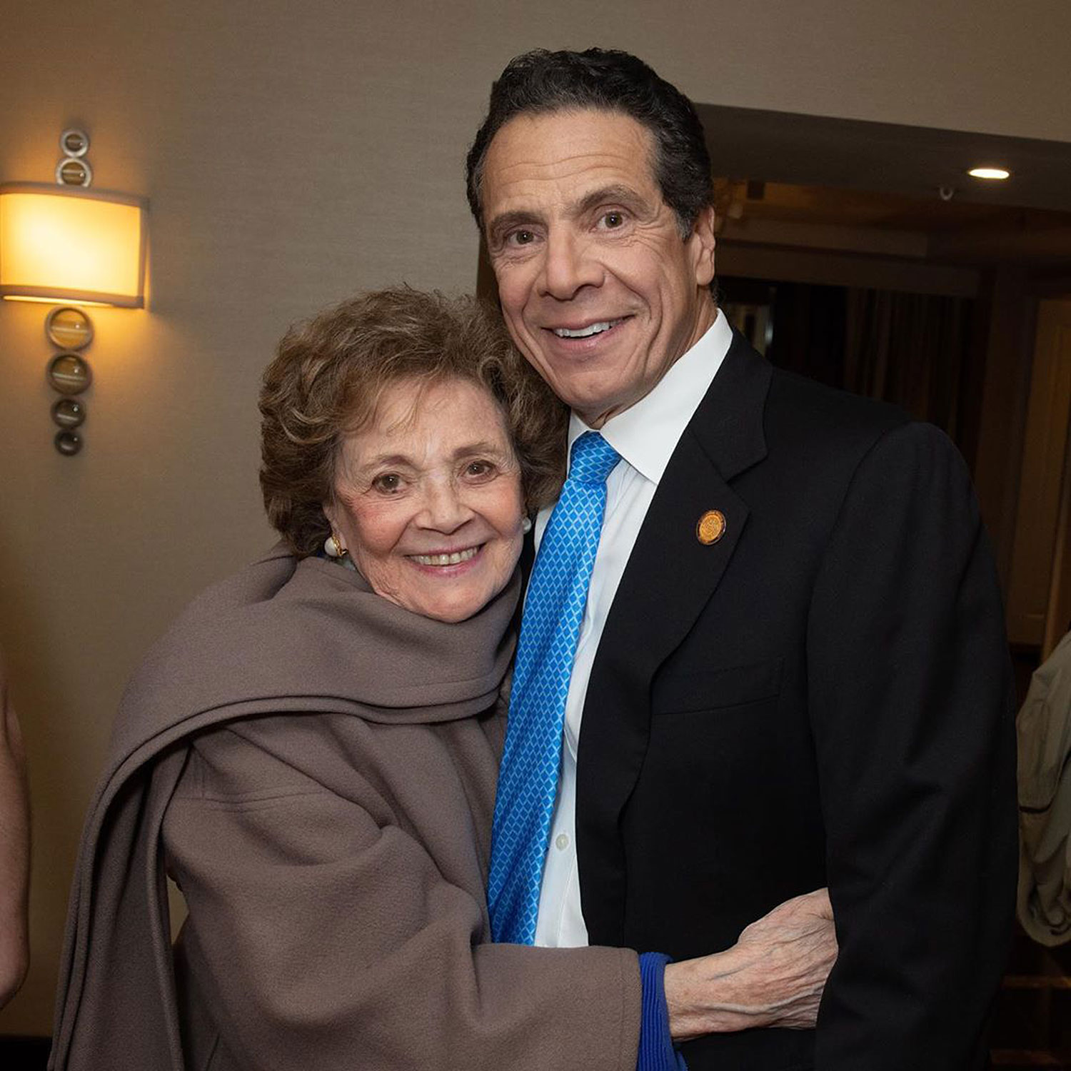 Andrew Cuomo and his mother