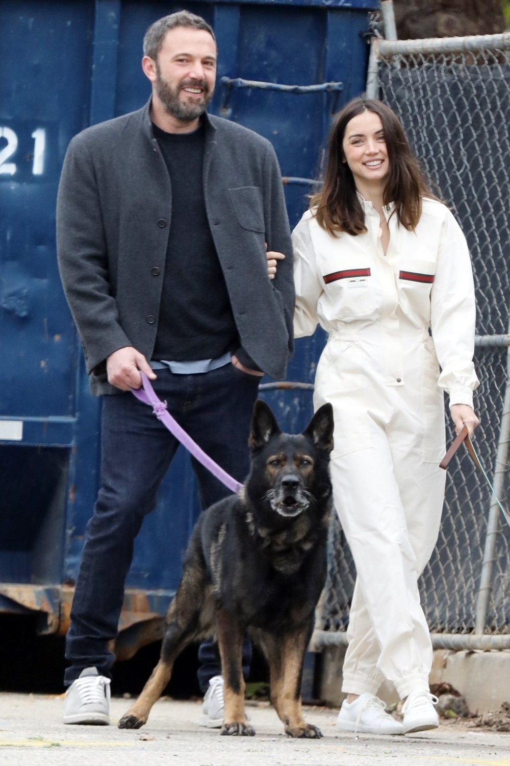 Ben Affleck goes for a morning stroll with girlfriend Ana de Armas on Easter Sunday
