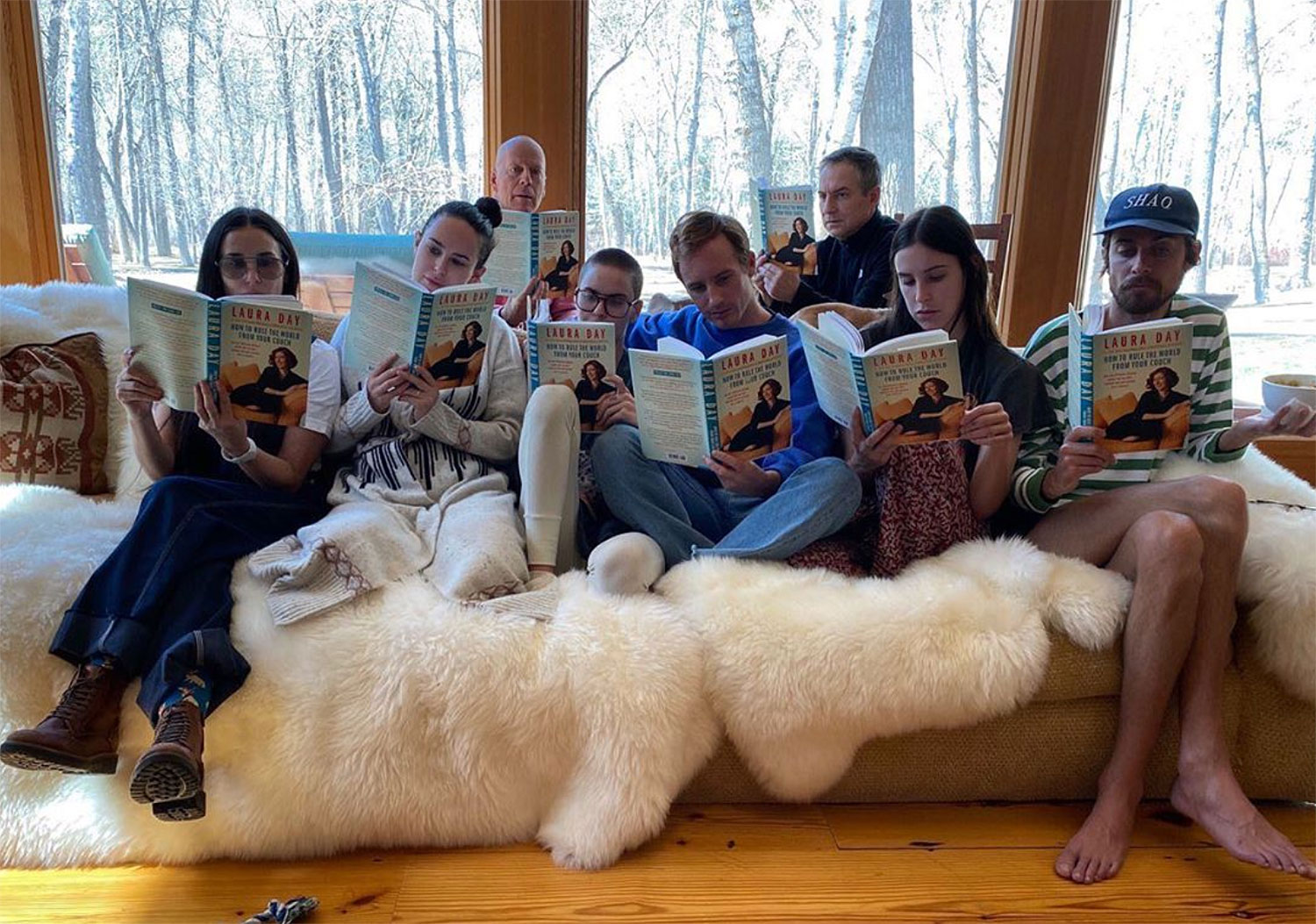 Demi Moore Bruce Willis family book club